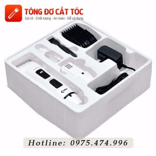 Combo tông đơ cắt tóc chuyên nghiệp: codos t6 + kéo cắt + kéo tỉa + áo choàng + dao cạo + lược 7 - codos t6