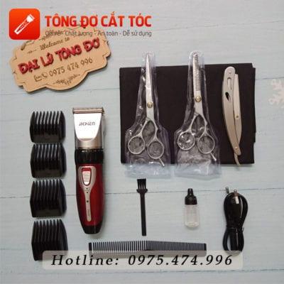 Combo tông đơ cắt tóc gia đình chính hãng jc0817 20 - combo0817. 1