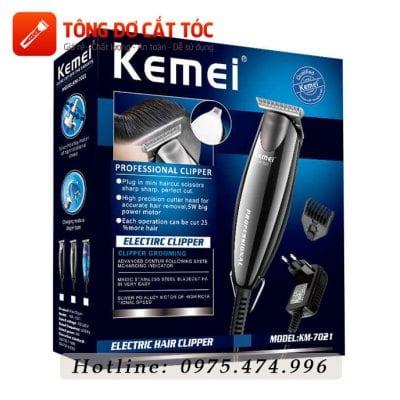 Tông đơ chấn viền chuyên nghiệp 2in1 kemei km-7021 18 - kemei 7021
