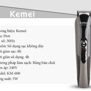 Tông đơ cắt tóc đa năng 6 trong 1 kemei km-600 28 - tong do cat toc da nang 6 trong 1 kemei km 600 2