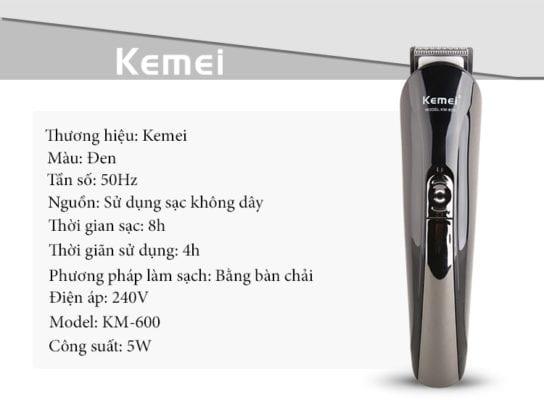 Tông đơ cắt tóc đa năng 6 trong 1 kemei km-600 36 - tong do cat toc da nang 6 trong 1 kemei km 600 2