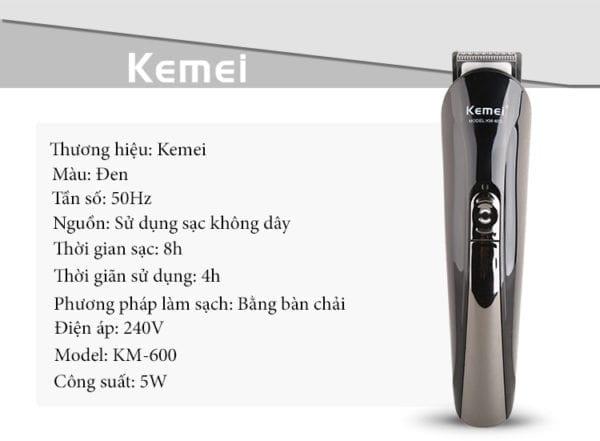 Tông đơ cắt tóc đa năng 6 trong 1 kemei km-600 13 - tong do cat toc da nang 6 trong 1 kemei km 600 2