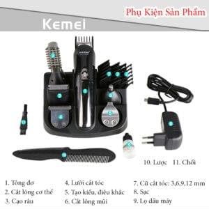 Tông đơ cắt tóc đa năng 6 trong 1 kemei km-600 18 - tong do cat toc da nang 6 trong 1 kemei km 600 8