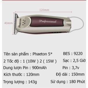 Tông đơ cạo viền, chấn viền chuyên nghiệp phaeton 5 sao 15 - cd67301346c6d8d98ed2ffe0206be17b