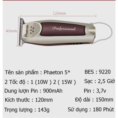Tông đơ cạo viền, chấn viền chuyên nghiệp phaeton 5 sao 25 - cd67301346c6d8d98ed2ffe0206be17b