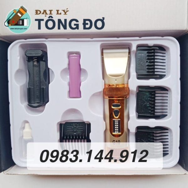 Tông đơ cắt tóc kato g10 lưỡi sứ 6 - tong do g10 6