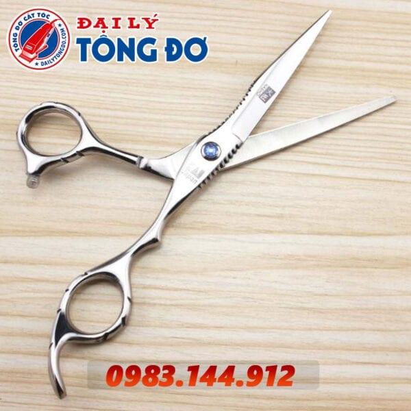 Bộ kéo cắt tỉa tóc kasho nhật bản (tặng kèm bao da đựng kéo cao cấp + 2 lược toniguy) 8 - kéo kasho 1