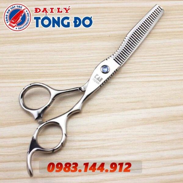 Bộ kéo cắt tỉa tóc kasho nhật bản (tặng kèm bao da đựng kéo cao cấp + 2 lược toniguy) 7 - kéo kasho 2