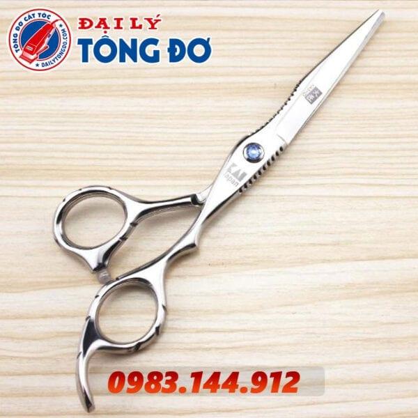 Bộ kéo cắt tỉa tóc kasho nhật bản (tặng kèm bao da đựng kéo cao cấp + 2 lược toniguy) 6 - kéo kasho 3