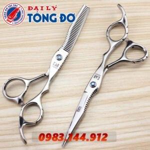 Bộ kéo cắt tỉa tóc kasho nhật bản (tặng kèm bao da đựng kéo cao cấp + 2 lược toniguy) 16 - kéo kasho
