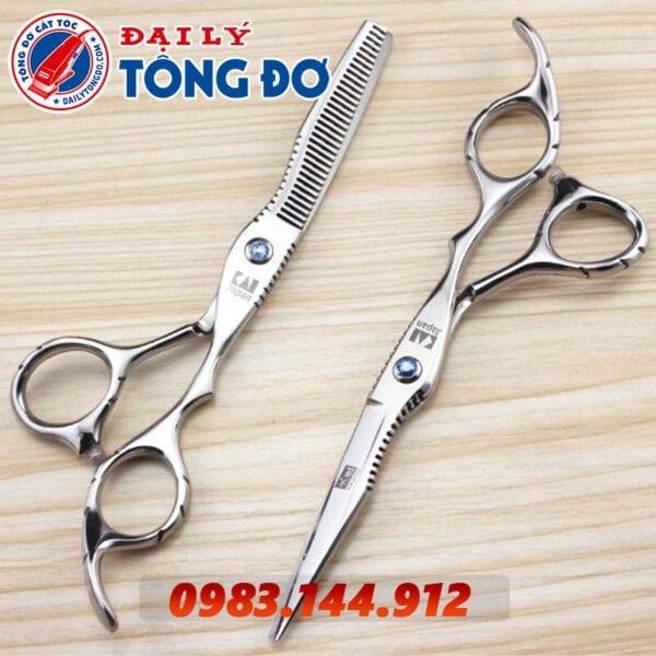 Bộ kéo cắt tỉa tóc kasho nhật bản (tặng kèm bao da đựng kéo cao cấp + 2 lược toniguy) 9 - kéo kasho