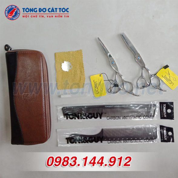 Bộ kéo cắt tỉa tóc jason cao cấp (tặng kèm bao da đựng kéo cao cấp + 2 lược toniguy) 5 - bo keo jason 588x588 1