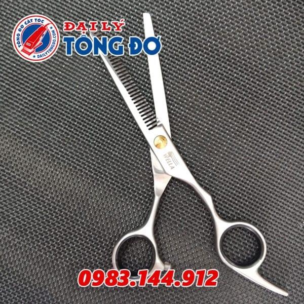 Bộ kéo cắt tỉa tóc wella đức (tặng kèm bao da đựng kéo cao cấp + 2 lược toniguy) 7 - keo wella 3