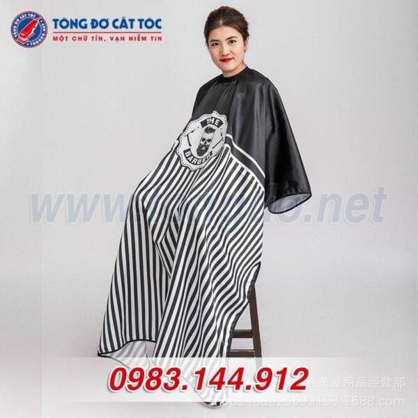 Áo choàng cắt tóc the barber (a4) 6 - o choàng 1