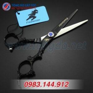 Bộ kéo feelander thép nhật tay rồng cao cấp (tặng kèm bao da đựng kéo cao cấp + 2 lược toniguy) 14 - kéo rồng đen3