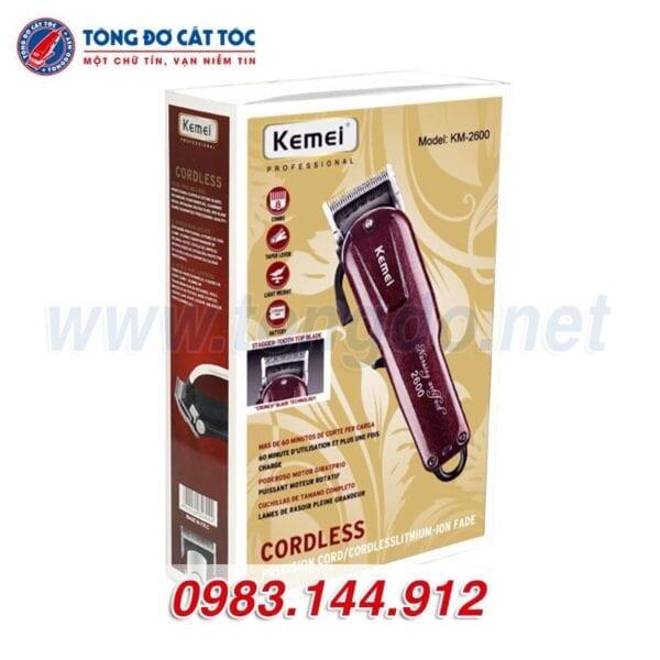 Tông đơ cắt tóc kemei km 2600 tặng cữ 1,5mm và 4,5mm 7 - kemei 2600 1