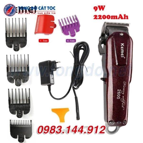 Tông đơ cắt tóc kemei km 2600 tặng cữ 1,5mm và 4,5mm 5 - kemei 2600