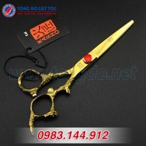 Bộ kéo cắt tóc kasho rồng vàng nhật bản (tặng kèm bao da đựng kéo cao cấp + 2 lược toniguy) 11 - keo kasho 2