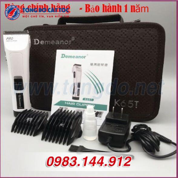 Tông đơ cắt tóc chuyên nghiệp demeanor k65t (7w | 300 phút | tặng lược tony&guy) 10 - tong do k65t. 1 588x588 1