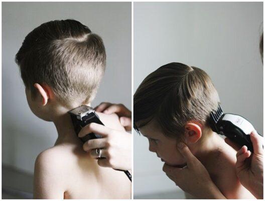 Cách cắt tóc bằng tông đơ cho bé